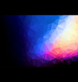 abstract dark and colorful polygonal which vector image vector image