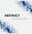 abstract dark blue hexagon background vector image