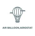 air balloonaerostat line icon air vector image