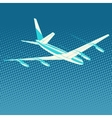 airplane flight travel tourism vector image vector image