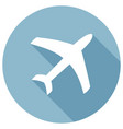 airplane icon modern flat icon with long shadow vector image vector image