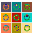 assembly flat christmas wreath vector image vector image