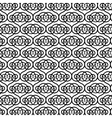 Black and white pattern with round forms vector image