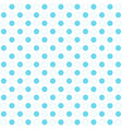 blue polka dots seamless pattern on white vector image