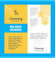 bulb with gear company brochure title page design vector image