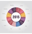Calendar 2015 year round shape vector image vector image