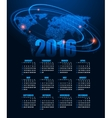 Calendar for 2016 on abstract background vector image