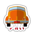 car just married transport vector image vector image