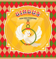 circus card with a parrot vector image vector image