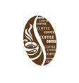coffee label image vector image vector image