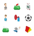Competition football icons set cartoon style vector image vector image