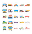 creative flat icons set of transport vector image vector image