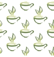 Cups of herbal tea seamless pattern vector image