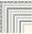 Decorative seamless ornamental border vector image vector image