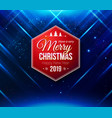 design template for poster or card festive blue vector image vector image
