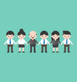 employees and employer holding hands business vector image vector image