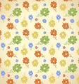 flower pattern Seamless background Green yellow vector image vector image