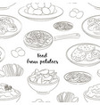 food from potatoes pattern vector image