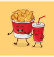 friends forever chicken fried and cola vector image vector image