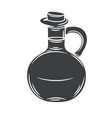 glass bottle jug glyph icon vector image vector image