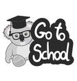 Go to school vector image vector image