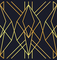 gold black abstract art deco seamless pattern vector image vector image