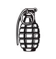 hand grenade in monochrome style design element vector image