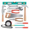 hand tools mockup set realistic style vector image