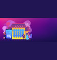 heating system concept banner header vector image vector image