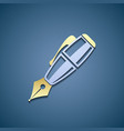 Icon pen Flat graphic vector image vector image