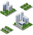 isometric city set urban landscape 3d elements vector image