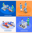 isometric physiotherapy design concept vector image