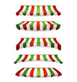italian striped awnings for market store vector image
