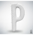letter P Fonts of Mesh vector image vector image