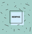 memphis style design vector image vector image