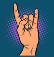mens hand rock gesture vector image