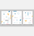 minimalist memphis style page background design vector image
