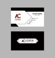 Modern creative business card template with ac