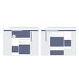 modern set social network web page post frames vector image