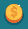 money symbol flat vector image vector image