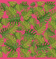 monstera plant tropical seamless pattern vector image vector image