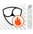 nem fire flat icon with bonus vector image vector image