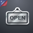 open icon symbol 3D style Trendy modern design vector image vector image