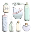 Perfume Bottles and Flask Collection Drawing vector image vector image