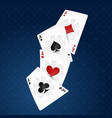 playing cards four suits vector image vector image