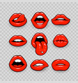 red lips a collection vector image vector image