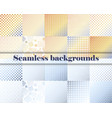set of seamless with large and small lines and vector image vector image