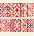 set of ten seamless abstract patterns in vector image vector image