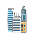 skyscraper buildings architecture town urban vector image