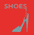 square symbol of the womens shoe store vector image vector image